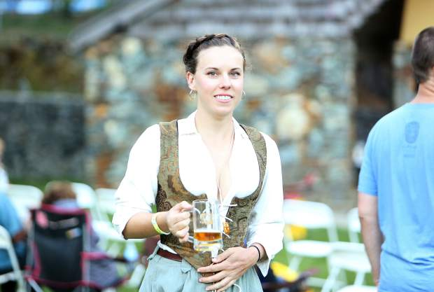 While some folks dressed to the part of the Oktoberfest, others were content in their street wear.
