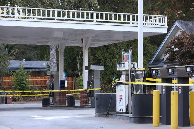 The Gold Flat gas station, as well as many other stations in the area, were closed due to the public safety power shutdown.
