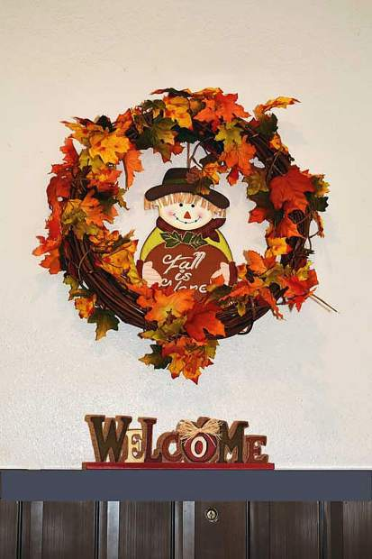Fall decorations at the Grass Valley Senior Apartments.