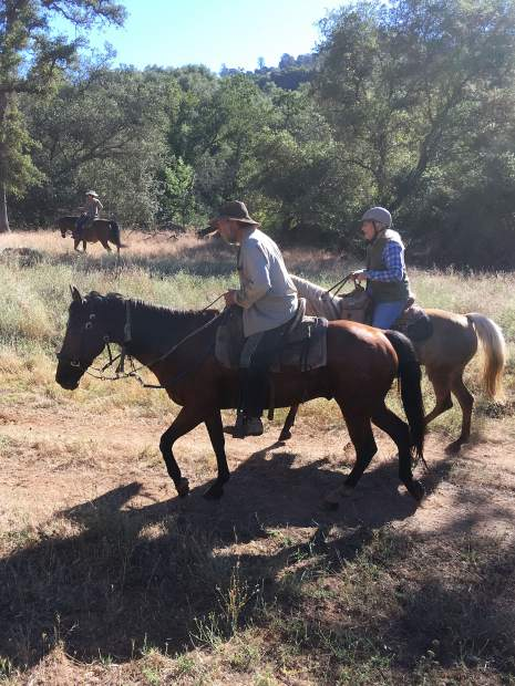 Riding the range near garden bar preserve.
