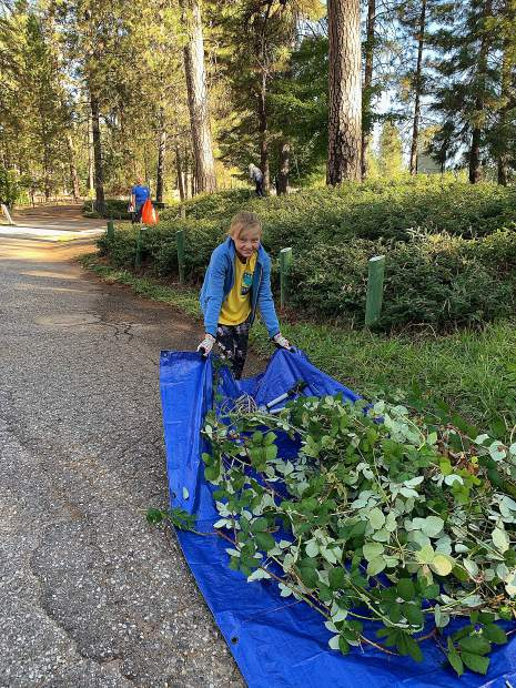 Community members participated in Anew Day's 6th annual Random Acts of Kindness Event (RAKE) on Saturday, Oct. 5 by helping clean up Nevada County.