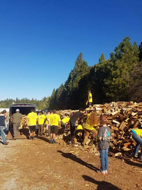Round of applause to Nevada Union football, baseball and wrestling teams for supporting local seniors with loading and delivering firewood!