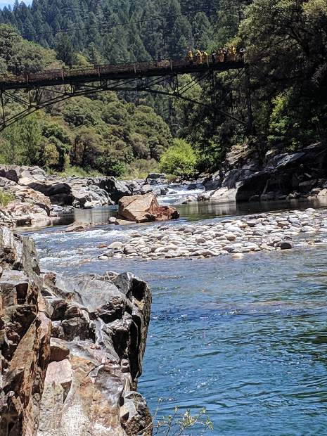 Nevada City's finest performing a river rescue in the summer of 2019 at a popular swimming spot on the South Yuba River.