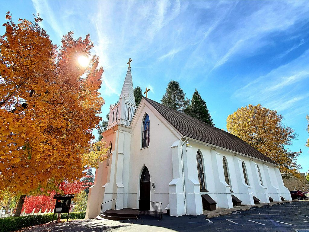 Fall delight at St. Canice Catholic Church in Nevada City.