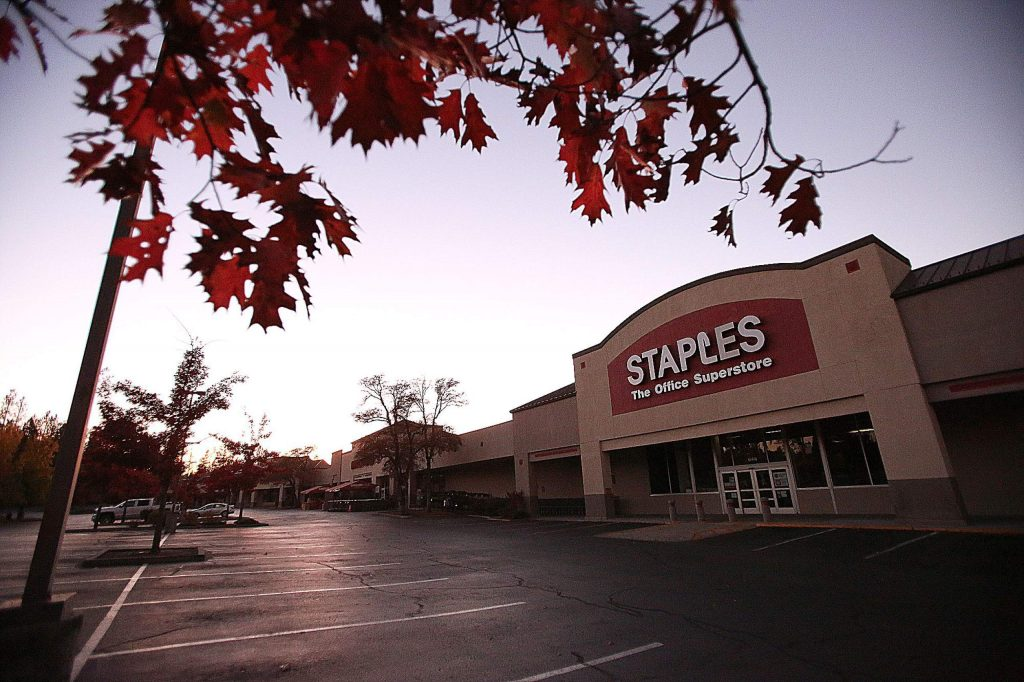 Grass Valley's Glenbrook Basin was a ghost town following Wednesday afternoon's PG&E power shutdown. Though the power was re-energized a few hours later, most businesses remained closed due to sending their employees home.