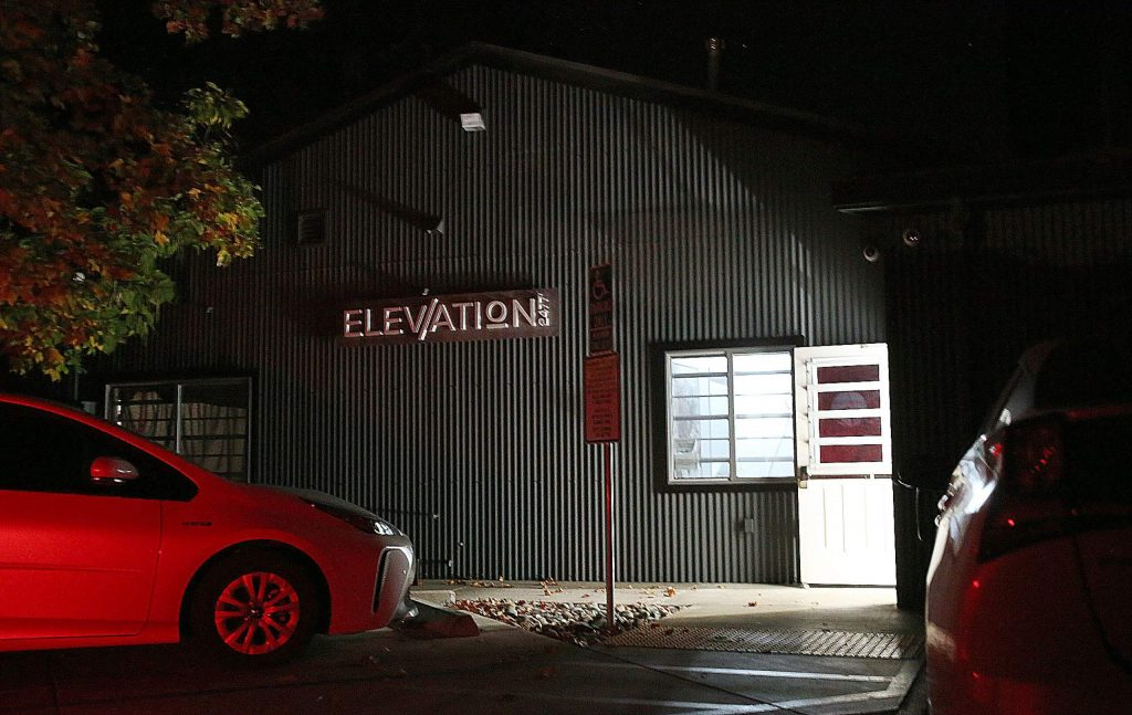Elevation 2477 cannabis dispensary was one of the few Nevada City businesses to remain open during the power shutdown Wednesday.