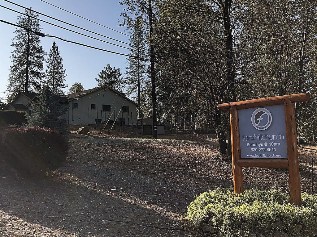 Grass Valley's Foothill Church was without power Sunday, but its services were proceeding as normal. According to one attendee, they rely on a higher power.