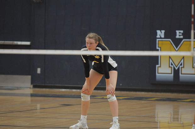 Nevada Union's Faith Menary competes in a contest earlier this season. Menary topped 1,000 career varsity kills Thursday. The senior outside hitter has 513 this season, ranking her first in the Sac-Joaquin Section and second in the state, according to MaxPreps.com.