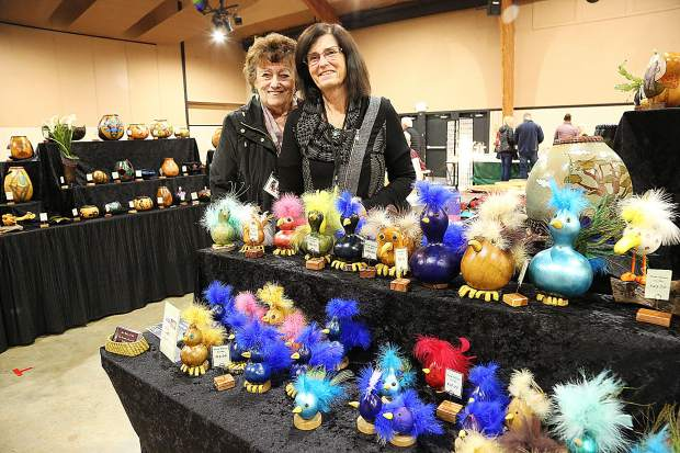 Pat and Jean, from Auburn-based business From Nature to Art, specialize in these gourd-based designs which were made available during last weekend's Winterfaire craft shopping experience at the Nevada County Fairgrounds.