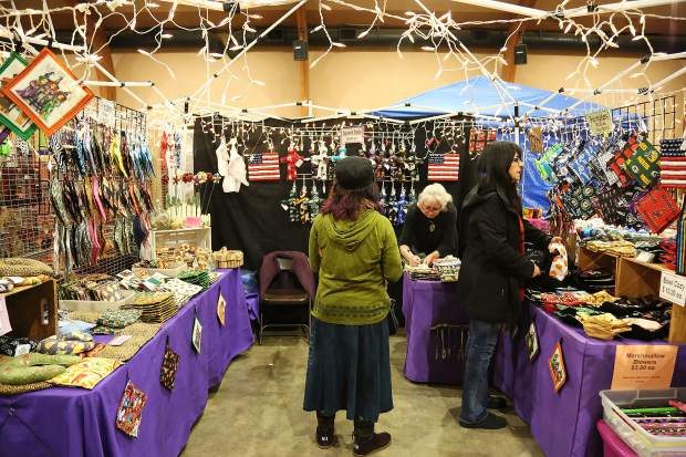 There were many different crafts that ranged from photography, gourd artists, clothing and almost any craft you could think of at this year's early Christmas shopping event, Winterfaire, at the Nevada County Fairgrounds.