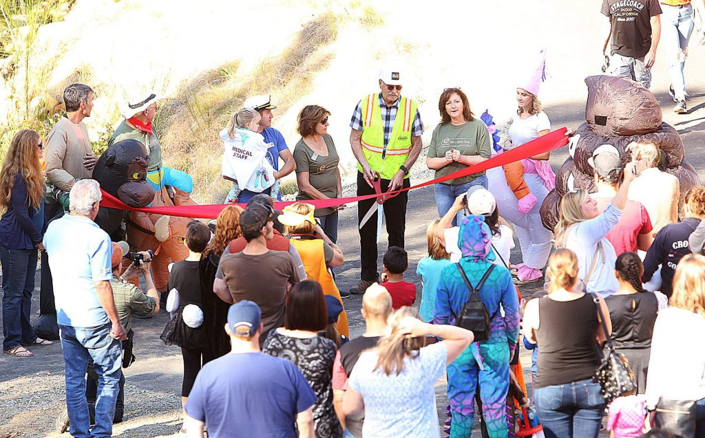 Grass Valley city officials held a ribbon cutting ceremony Saturday morning to commemorate the official grand opening of the Wolf Creek Trail.