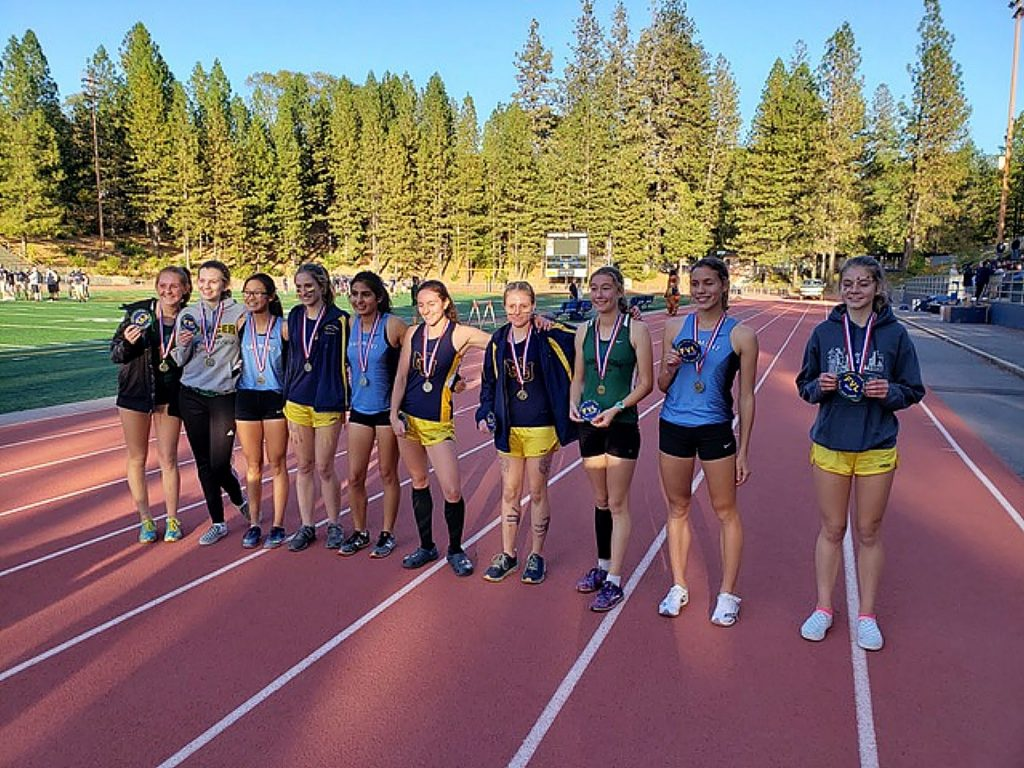 Nevada Union's Mackenzie Morgan, Megan Schreck, Sephora Wontor, and Hannah Tiffany all earned All-Foothill Valley League honors.