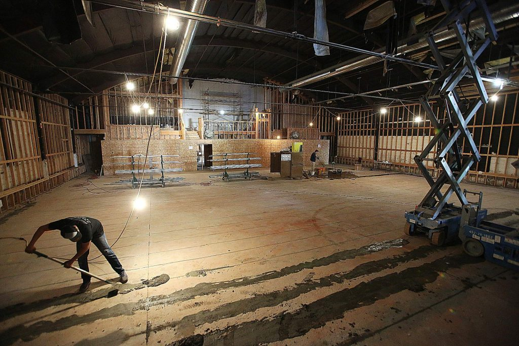 Work continues on the interior remodel of Grass Valley's Center for the Arts building located at 314 West Main Street. The Center for the Arts anticipates the remodel will be complete by the end of January.