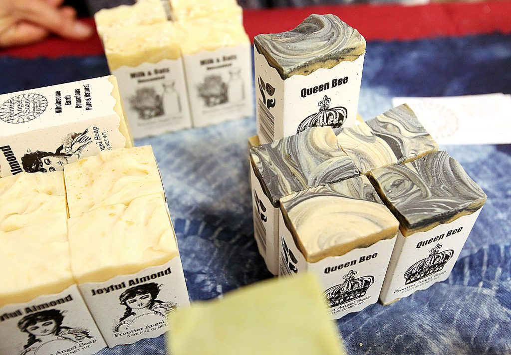 The Queen Bee is just one of the many types of hand crafted soaps offered by Frontier Angel Soap artisan Roxanne Page.