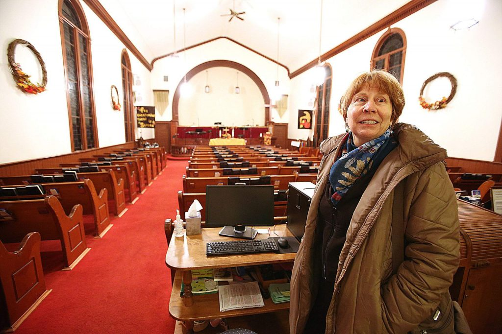 Mary DeWitt reminisces to the year 2006 when The Christmas Card Hallmark movie was filmed at the Nevada City United Methodist Church on Broad Street, among other Nevada County locations. DeWitt was an extra in the film along with other members of the congregation.