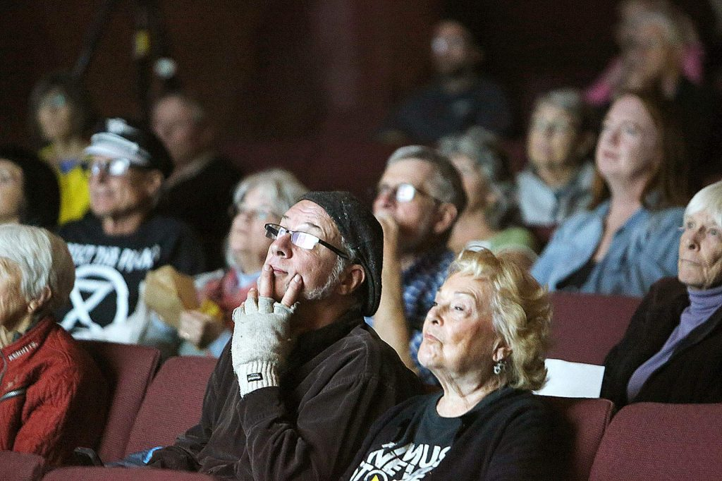Many were in attendance or listened to the climate change and your health talk Wednesday night at the Nevada Theatre.