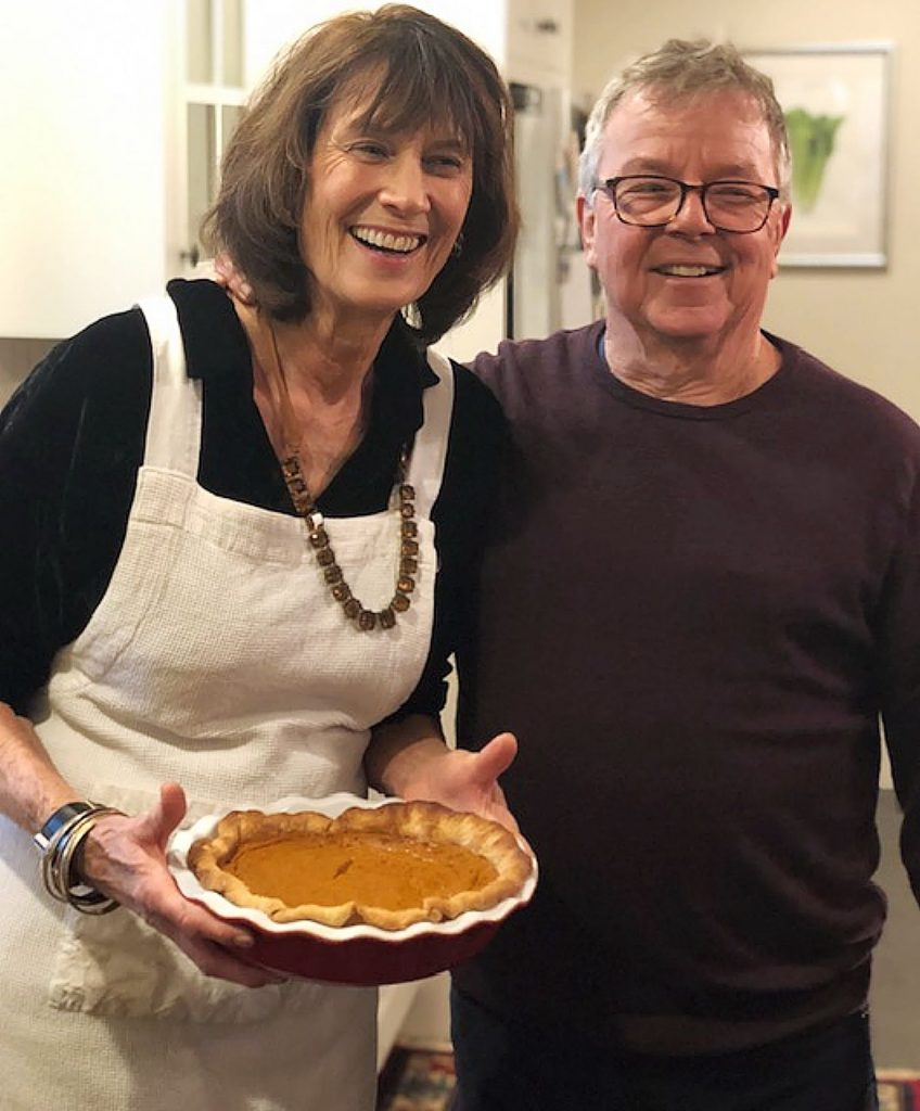 Mary Collier (left) with her husband, Peter, celebrating Thanksgiving together. The two lived in Nevada City for over 40 years.