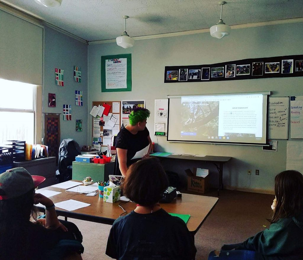 Sierra Academy of Expeditionary Learning (SAEL) students present on their learning goals, progress, and evidence of mastery in their subjects every semester.