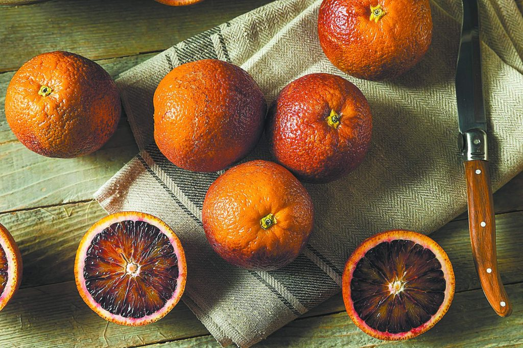 Raw Red Organic Blood Oranges Ready to Eat