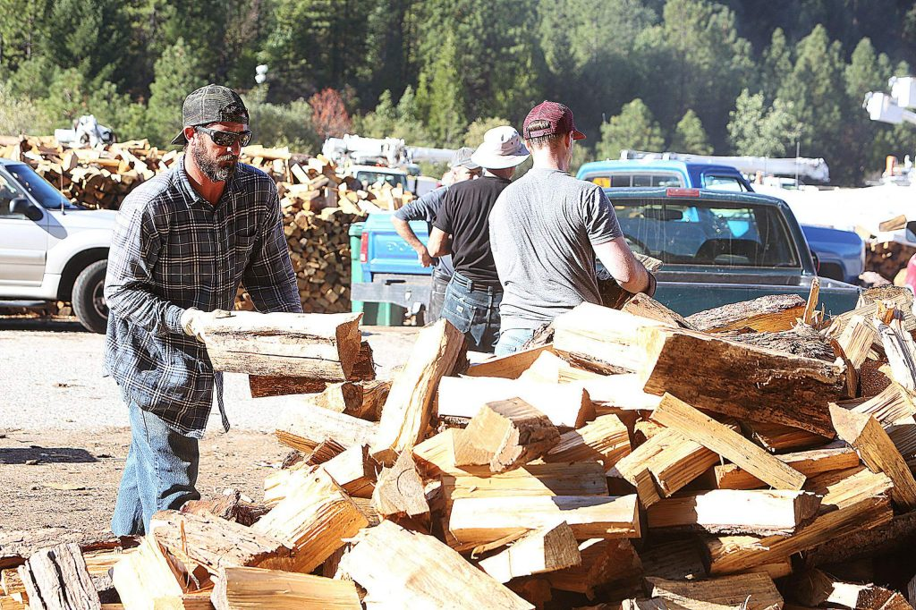Volunteers are needed Mondays and Tuesdays from 8 a.m. to noon, as well as on Thursdays, to help split the logs into firewood. Organizers are currently seeking to form a Saturday crew to help, as well as to get some younger folks to help.