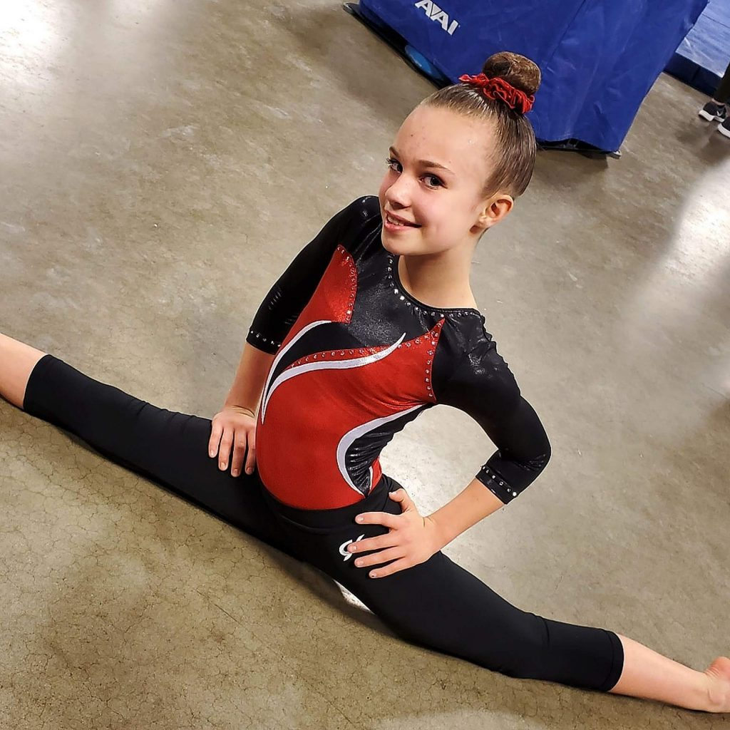 Antara Cole, 11, finished in fifth place all around with a score of 36.525, a season high for her. She fourth in the floor exercise (9.375), fifth on the vault (9.05) and fifth on the beam (9.25) in her age group.