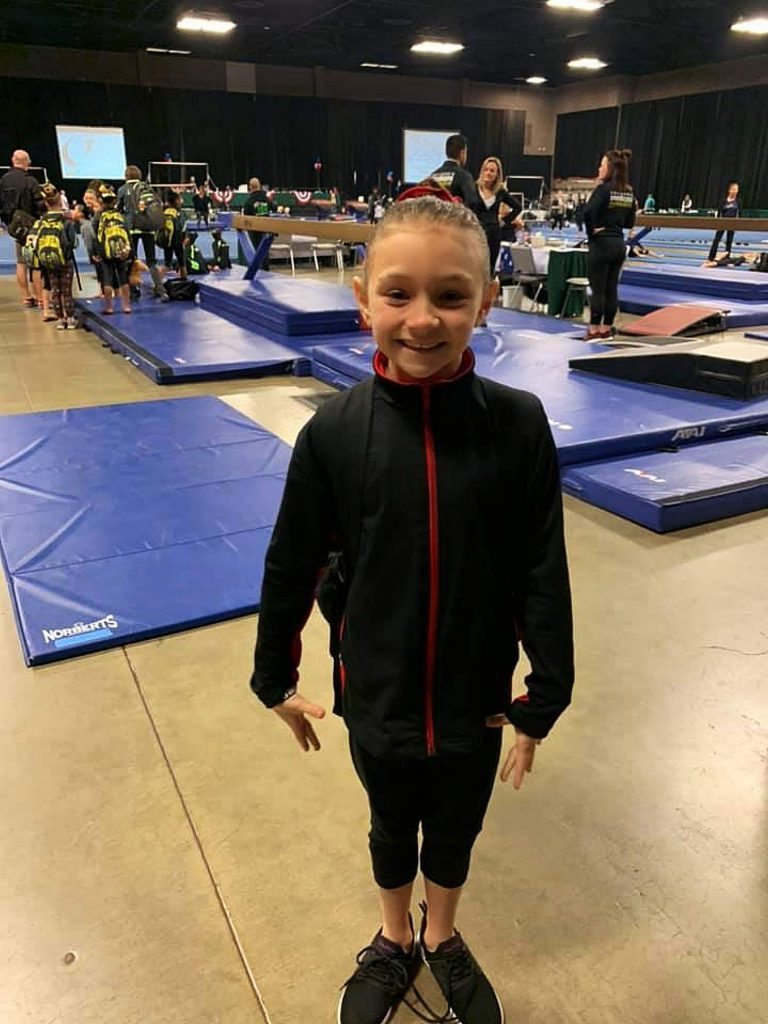 Dani Schwartz, 9, closed the year out with her highest all-around performance of the season (35.10)she was sixth on the bars (9.3) and also fared well on the vault (8.8) and floor exercise (8.95).