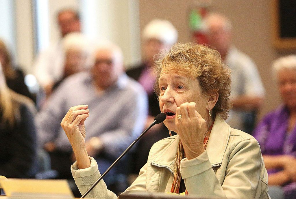 Nevada County senior advocate Barbara Larsen was one of many people to address the Board of Supervisors Tuesday morning as she highlighted the need for a senior center in Nevada County, which ranks as the third largest senior population among California counties.