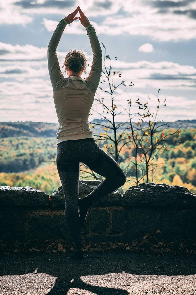 Once we have learned some basic poses and techniques, yoga can travel anywhere. We can do poses to celebrate the day or to stretch during at an overlook during a roadtrip.