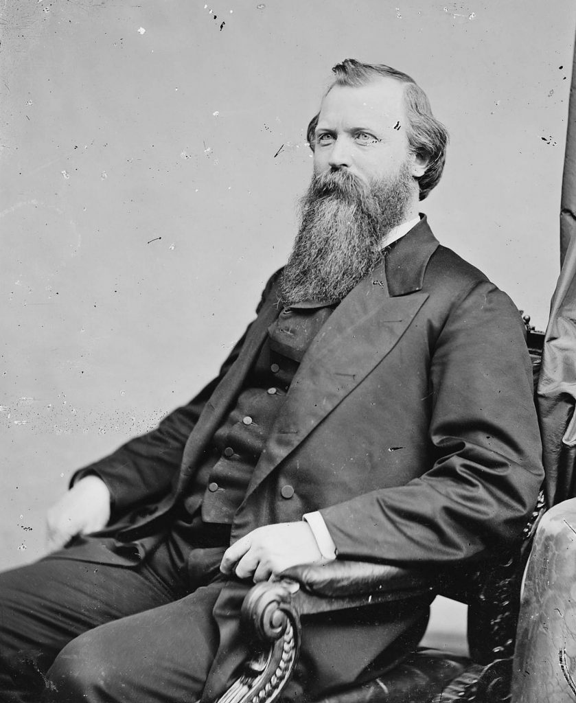 Former Nevada County District Attorney William Morris Stewart voted to convict and remove President Andrew Johnson.