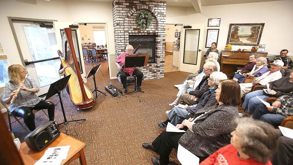 InConcert Sierra held their Music on Wheels program at three different senior living facilities in Grass Valley Saturday. The program aims to bring the healing gift of live classical music to those Nevada County residents whose physical limitations prevent their attendance at regular performances.