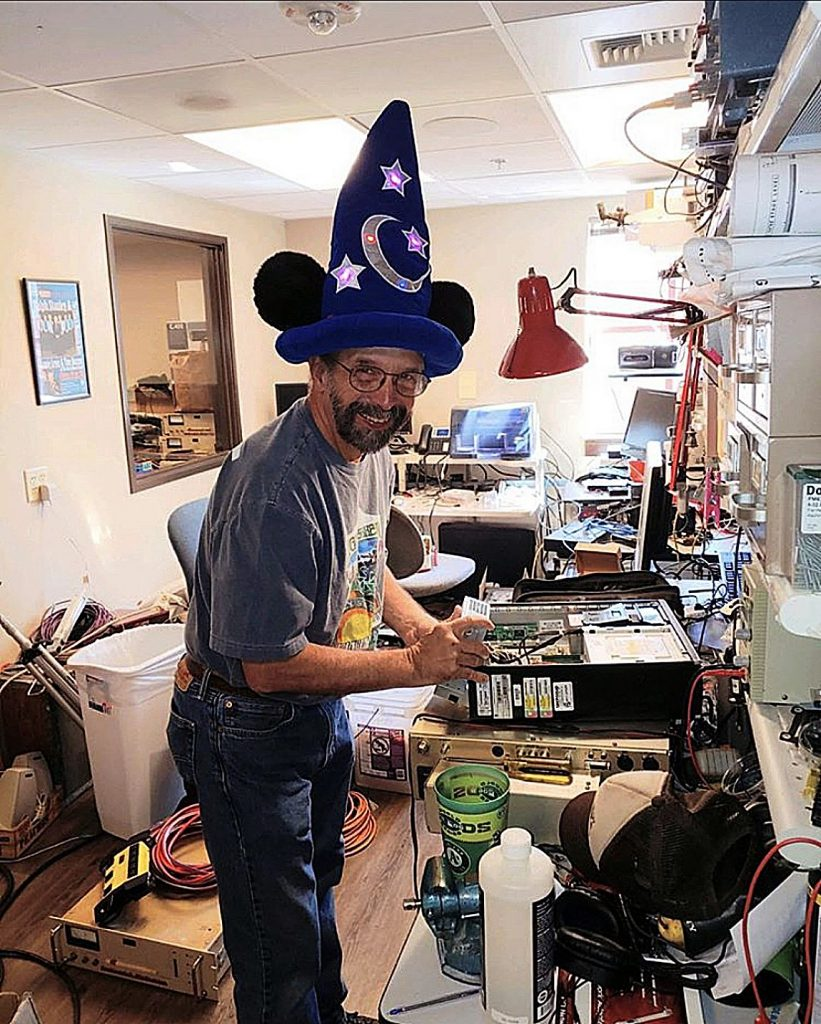 It takes a wizard hat on KVMR Chief Engineer Dave
