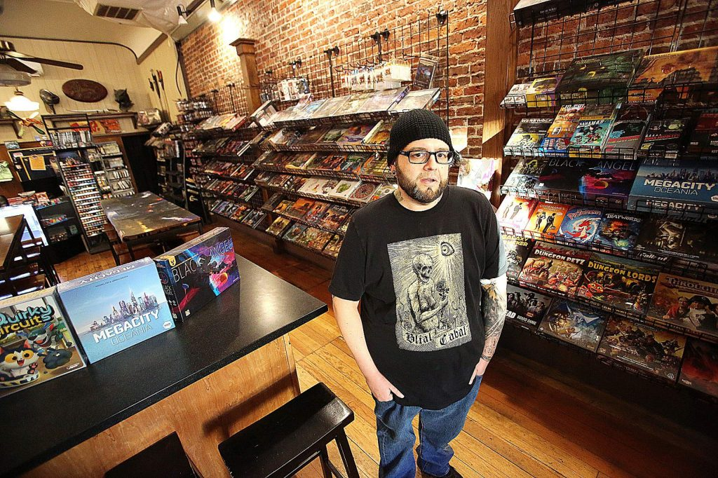 Grass Valley Games owner/operator Zak Lewis explains how Nevada County businesses, such as his, are taking huge losses whenever PG&E announces the potential for a public safety power shutdown. Though he didn't lose power to the shutdown Wednesday, Lewis still noted a lack in foot traffic to his store.