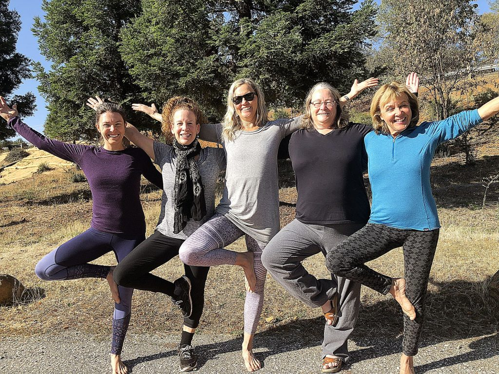 The power outage didn't stop this group from Grass Valley Yoga from enjoying a solar powered class.
