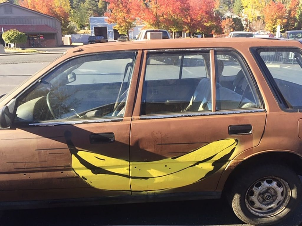 "Hand painted ""Car Art"" in Grass Valley."