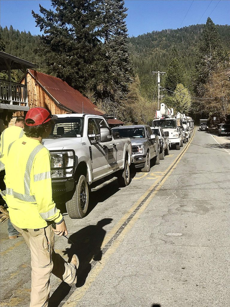The town of Washington finally getting power back on after six days of no power (Nov. 2).