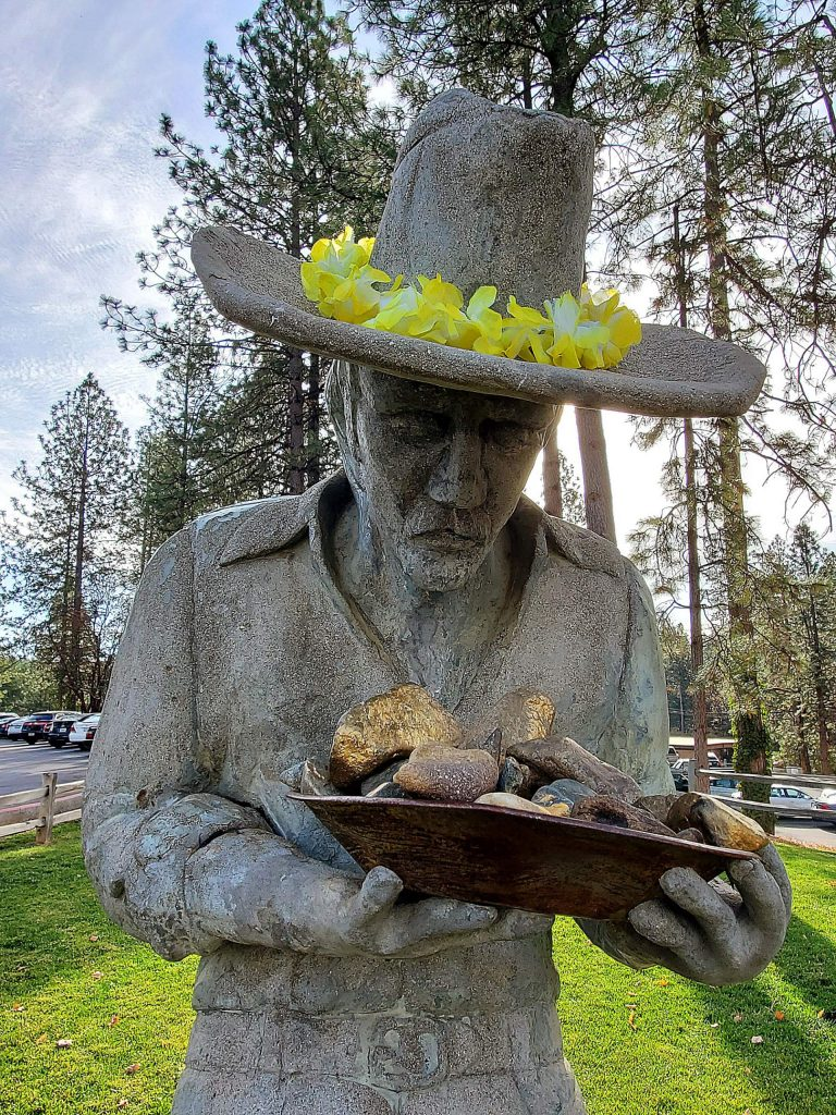 The miner statue is a welcoming sight at Nevada Union High School.