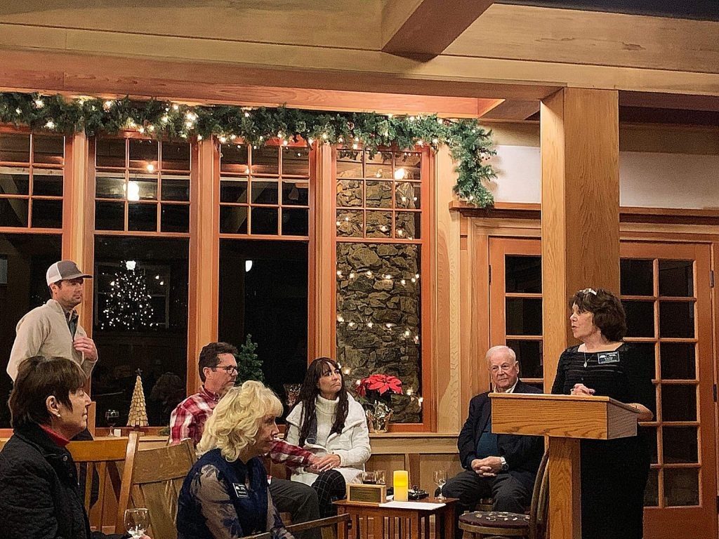 Betzi Hart thanking all for the ongoing support and what is still to come with the State Of The Star updates at the beautiful North Star House in Grass Valley.