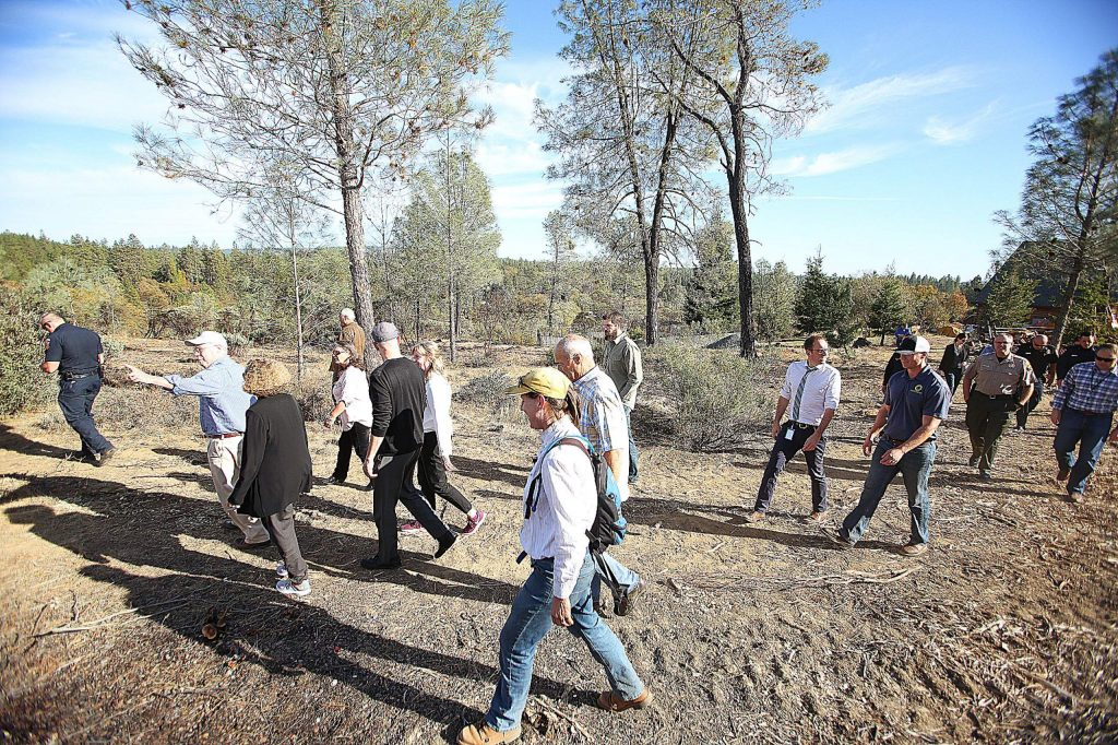 County officials took a walking tour of the Ponderosa West Grass Valley Defense Zone Project Tuesday, which is about 67% complete.