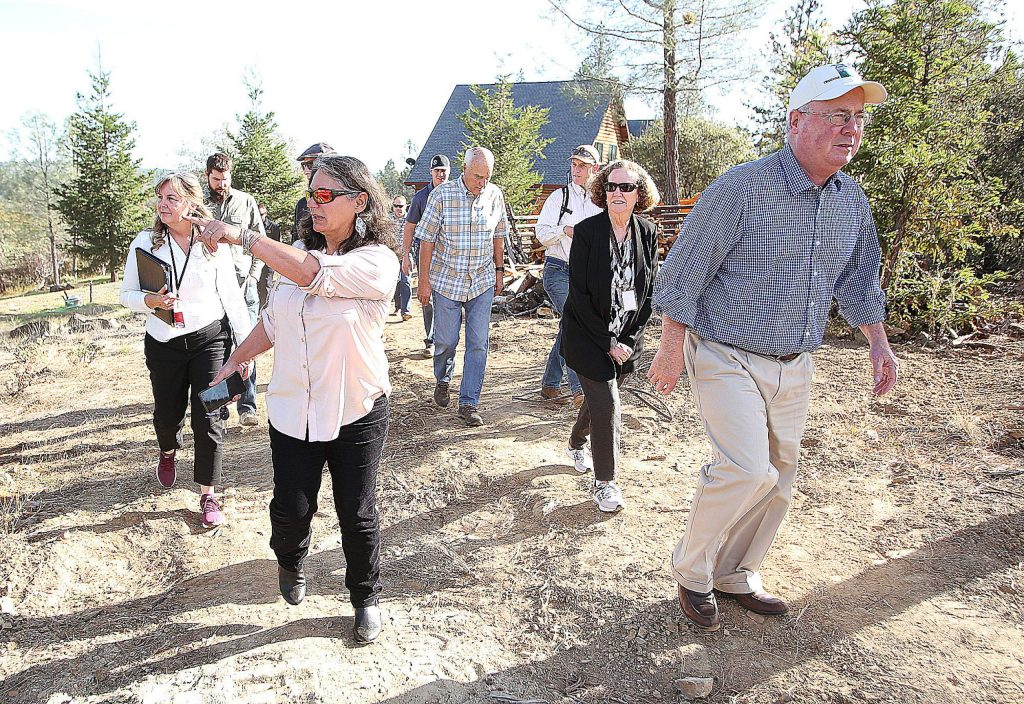 Nevada County Supervisors Heidi Hall and Richard Anderson were among some of the county officials to get a firsthand look at the efforts of the Ponderosa West Grass Valley shaded fuel break.