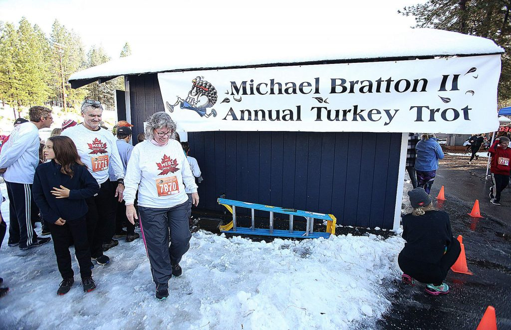 The low November snow added some challenges to the annual Michael Bratton II Turkey Trot but didn't keep the run from being a success.
