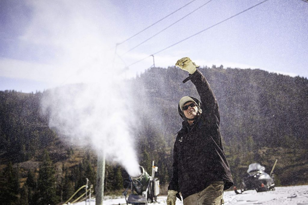 When conditions allow, Squaw Valley Alpine Meadows is able to make use of more than 300 snowmaking guns. The resort has reportedly invested more than $9 million in snowmaking during the past nine years.