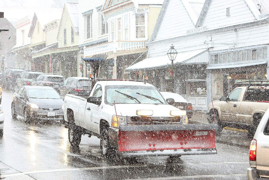 The snowplows are out in force along the main thoroughfares.