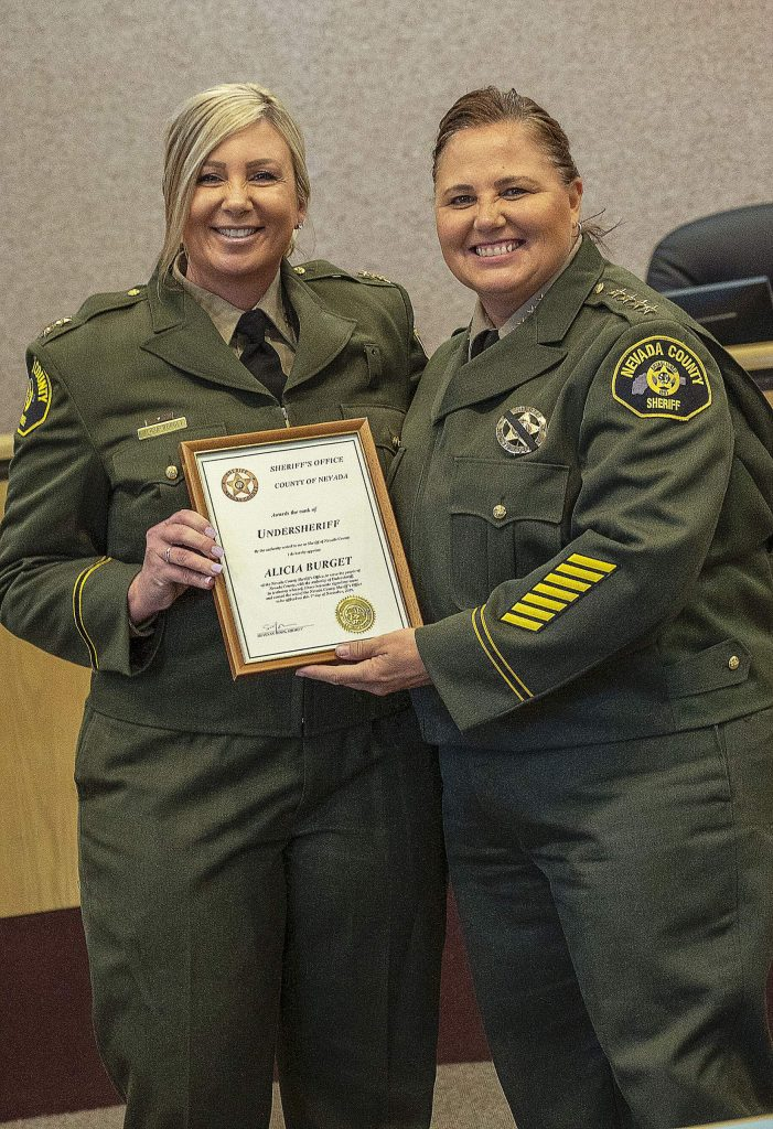 Undersheriff Alicia Burget, left, and Sheriff Shannan Moon.