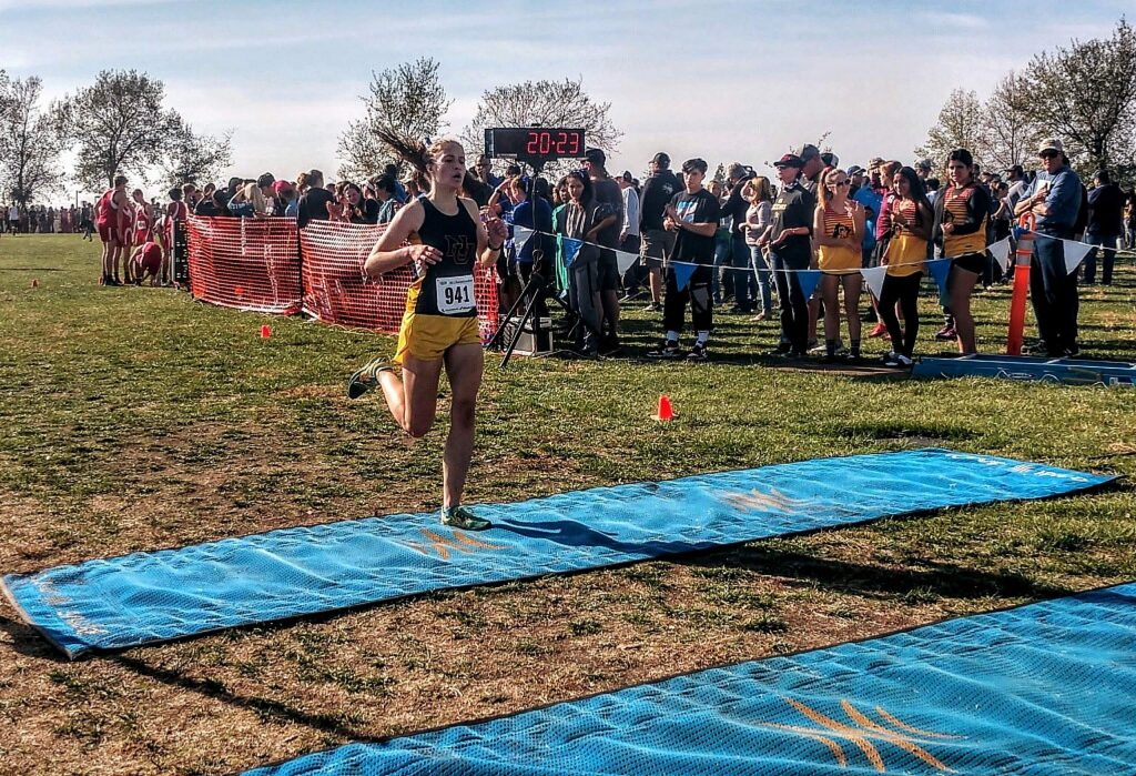 Nevada Union's Mackenzie Morgan placed fifth in the Sac-Joaquin Section Division 3 championship race held Saturday at Willow Hill in Folsom.