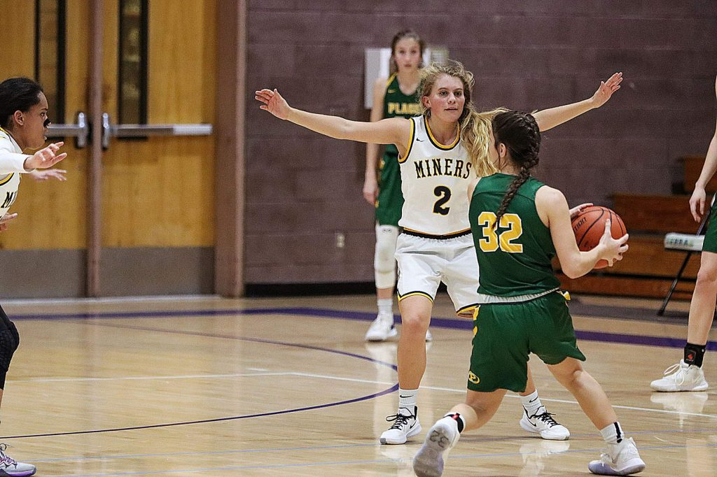 Nevada Union's Reese Wheeler (2) defends during a game against Placer at the Chavez Christmas Classic. The Lady Miners went 2-1 at the tourney and took home third place.