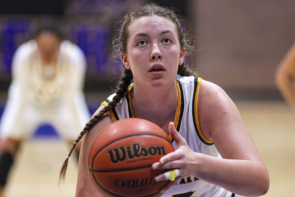Nevada Union's Kendall Hughes takes a free throw during a game against Placer at the Chavez Christmas Classic. The Lady Miners went 2-1 at the tourney and took home third place.