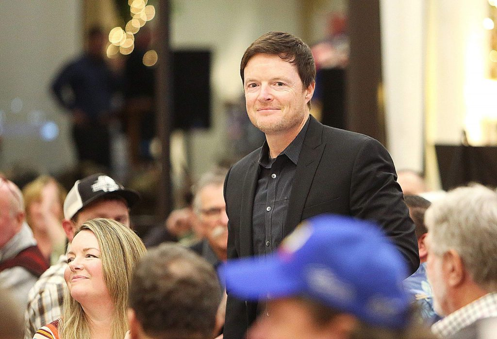 Roseville professional stunt double Tony Hunt, who recently doubled for Christian Bale in Ford vs. Ferrari, was also on hand during Thursday's Brad Sweet dinner.