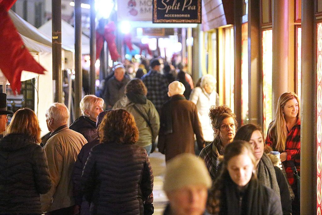 Mill Street businesses stayed open late during the final Cornish Christmas of the year last Friday in downtown Grass Valley giving shoppers extra opportunity to find the right Christmas gift.