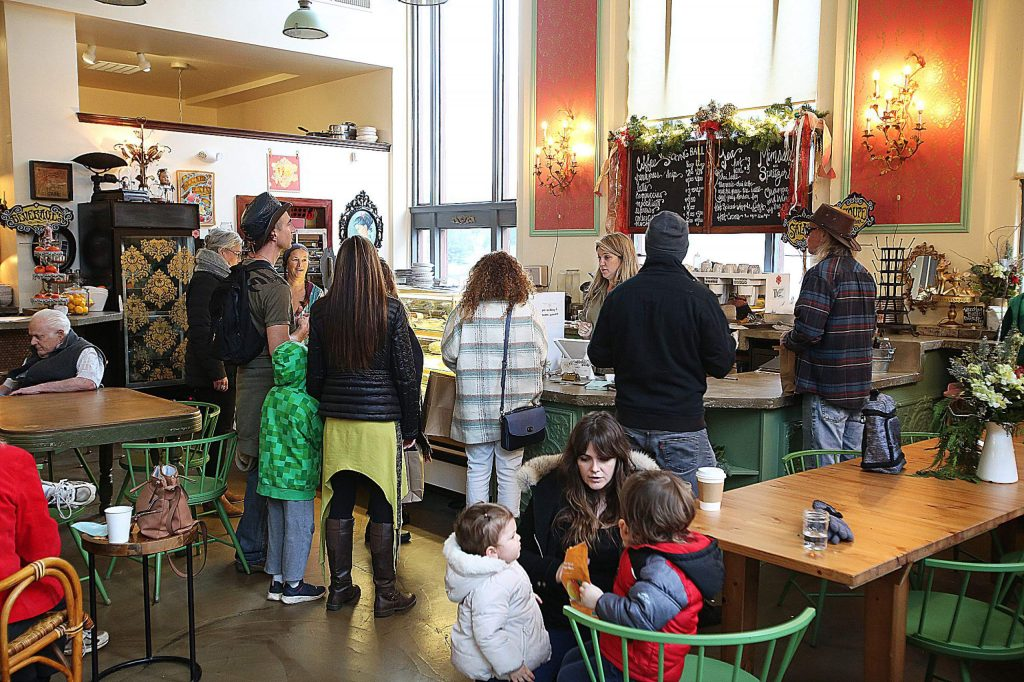 Cake Bakery & Cafe was a popular destination in downtown Grass Valley during the last Christmas shopping day of the year Tuesday.