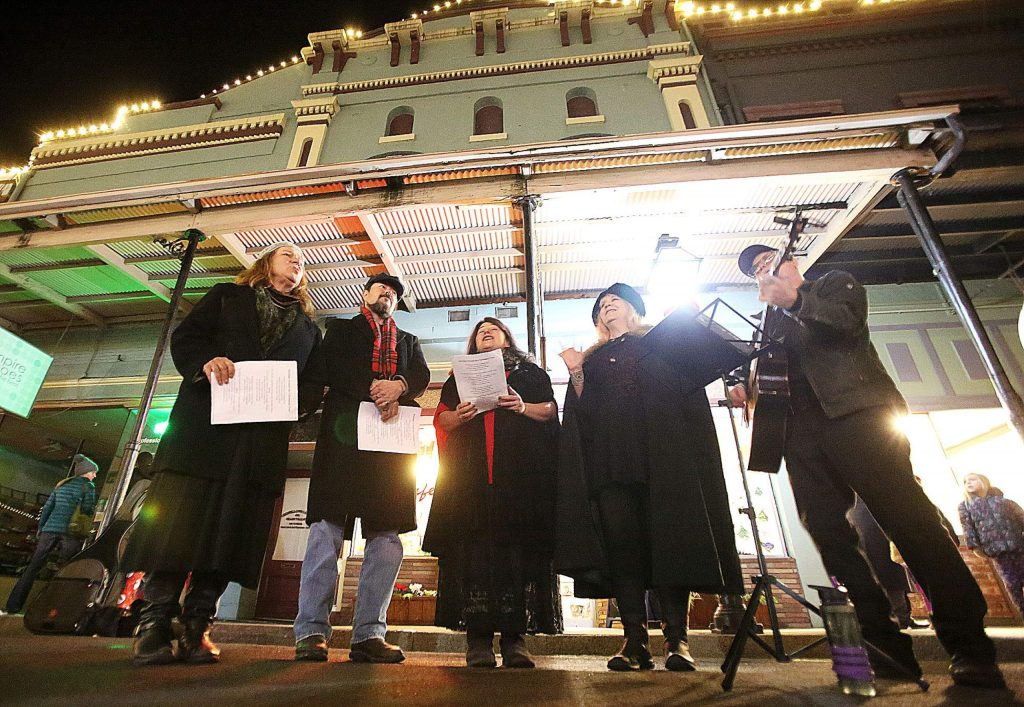Members of SierraCapella were just one of many different musical entertainers to fill the streets of downtown Grass Valley for the final Cornish Christmas of the year.
